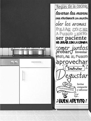 Stickers Para Nevera Reglas Cocina Leroy Merlin