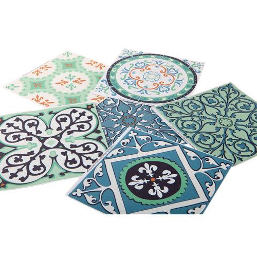 Stickers azulejo verde 15x15 cm
