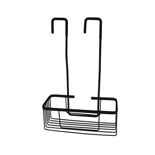 cesto para colgar en el grifo dentro de la ducha negro 30.5x46x13.5 cm