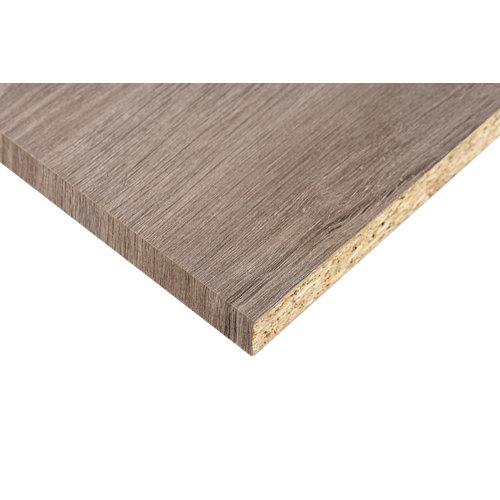 Tablero aglomerado de 2 cantos roble gris de 59,5x244x1,6cm (anchoxaltoxgrosor)