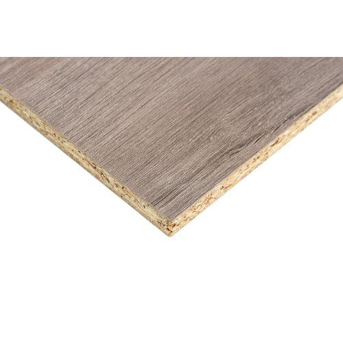 Tablero aglomerado de melamina roble gris 122x244x1 cm (anchoxaltoxgrosor)