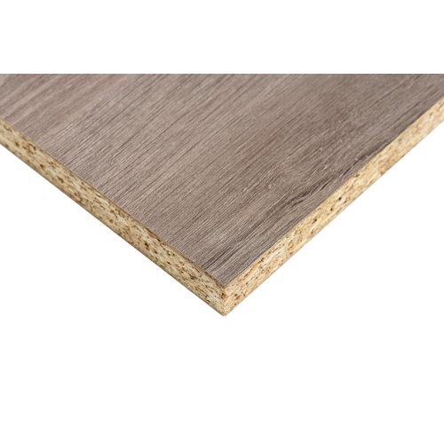 Tablero aglomerado de melamina roble gris 122x244x1,6 cm (anchoxaltoxgrosor)