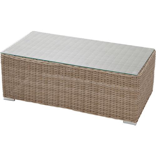 Mesa de jardín baja de aluminio costa rica de 62x41.5x112 cm