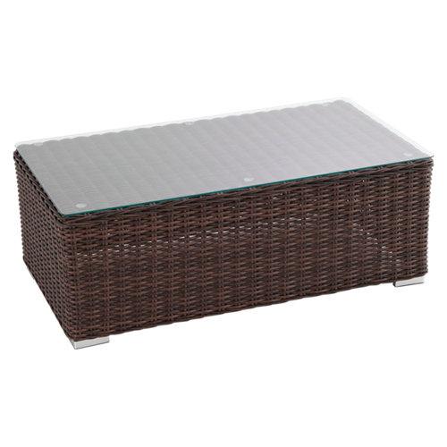 Mesa de jardín baja de aluminio costa rica marrón de 112x41.5x112 cm