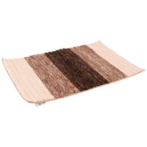 Alfombra de baño microfibra rectangular marron 50x80 cm