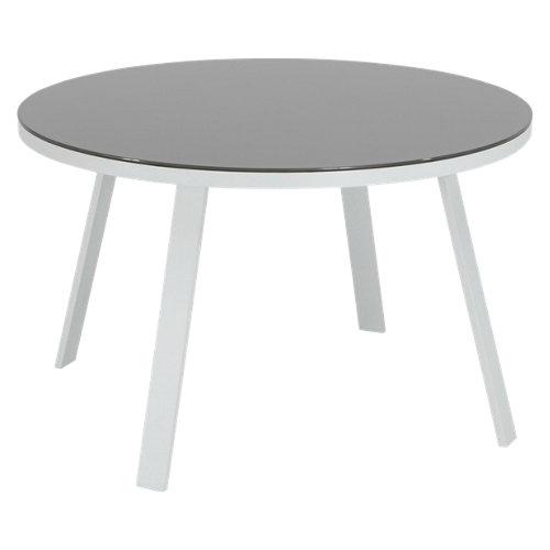 Mesa de aluminio lisboa blanco de 120x73x120 cm