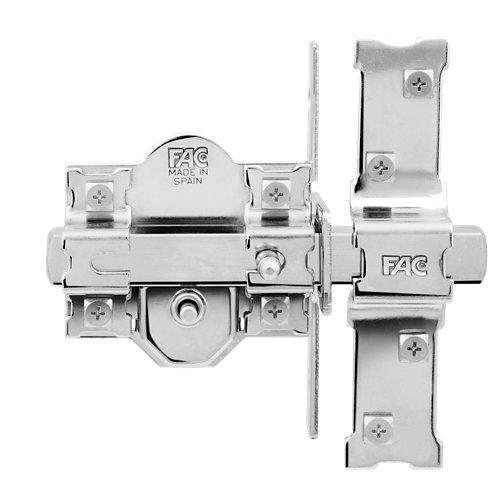 Cerrojo de seguridad botón/llave de 80 mm ancho cromado