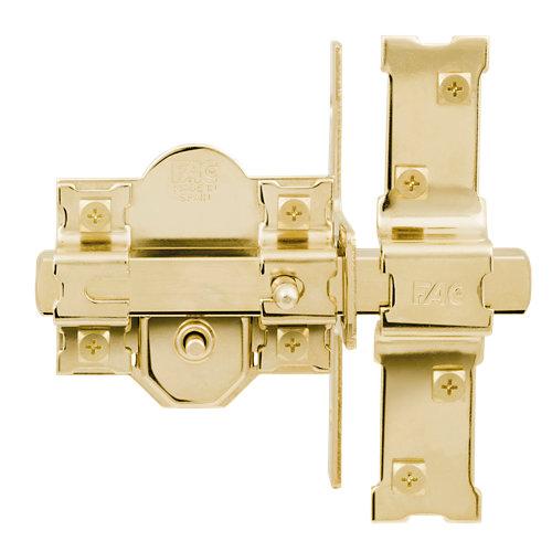 Cerrojo de seguridad botón/llave de 80 mm ancho dorado