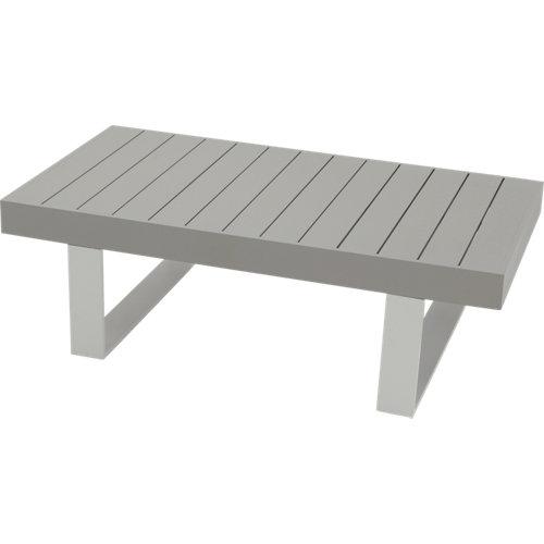 Mesa de jardín baja de aluminio las vegas gris de 73.5x42x132.5 cm