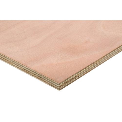 Tablero contrachapado fenólico okume de 122x250x2 cm (anchoxaltoxgrosor)