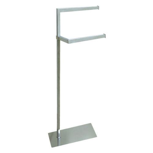 Toallero de pie zuri gris / plata brillante 38x97 cm