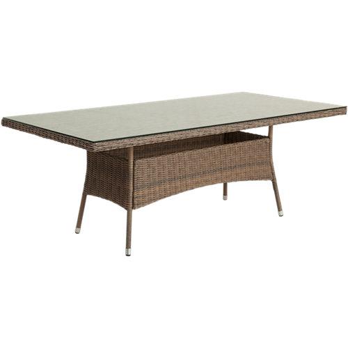 Mesa de jardín de aluminio manhattan marrón de 100x74x200 cm