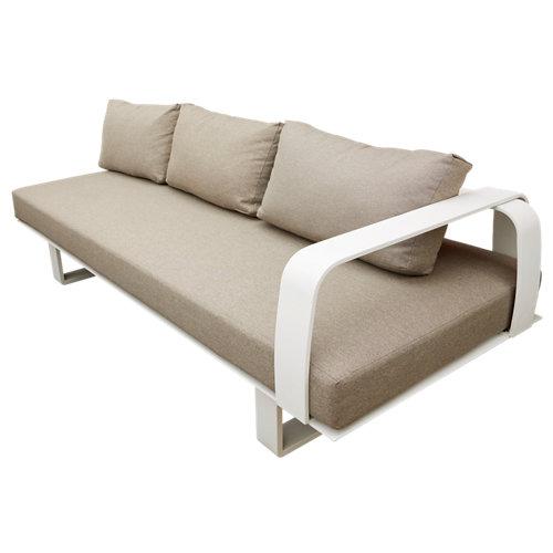 Banco/sofá de exterior de aluminio brunei beige