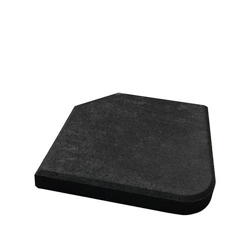 Pie de parasol de 1/4 circular de cemento 25 kg
