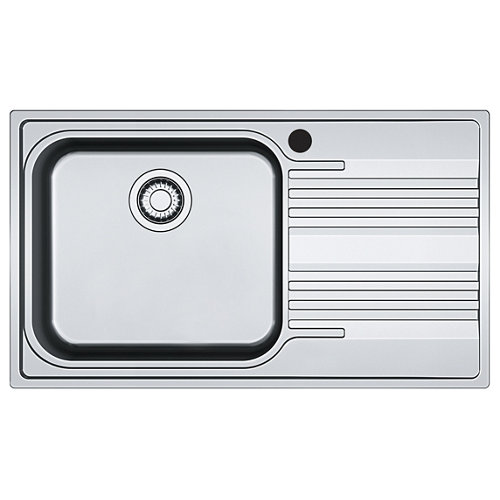 Fregadero seno con escurridor de acero inox rectangular franke smart 60x86cm