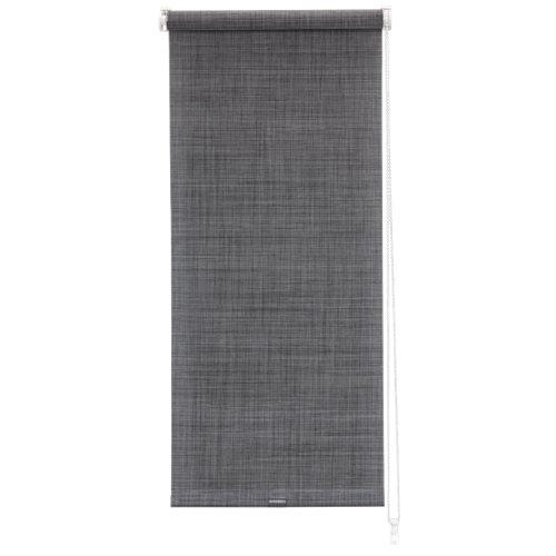 """""""Estor enrollable semitraslúcido Texture con diseño falso liso en color gris oscuro. Con mecanismo reversible para facilitar su uso. Incluye tornillería para su instalación. Medidas: 52 x 190 (ancho total x alto)."""
