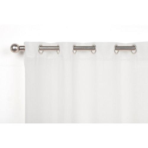 Visillo borneo con motivo liso blanco de 270 x 140 cm