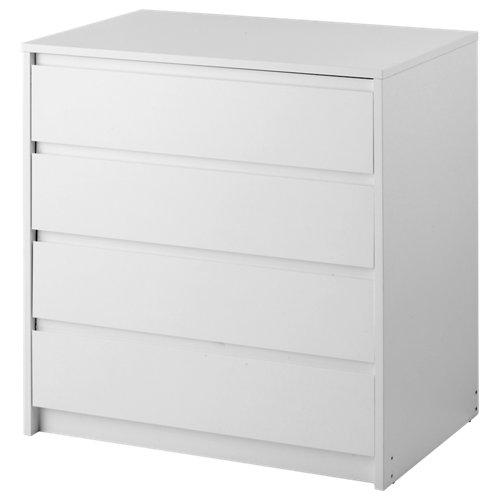 Cajonera 4 cajones serie home blanco 74x70x45cm (altoxanchoxfondo cm)