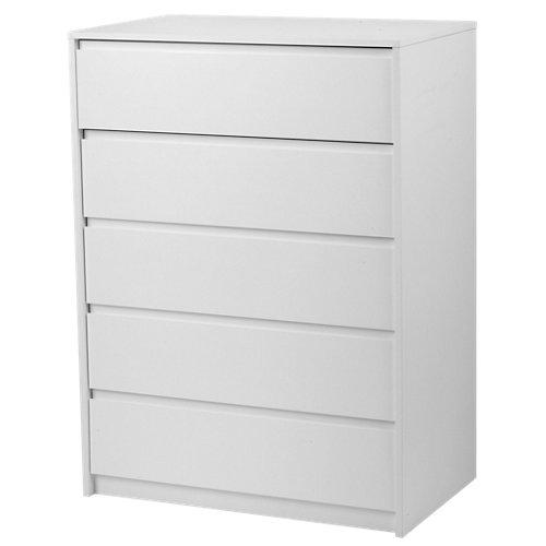 Cajonera 5 cajones serie home blanco 109x80x48cm (altoxanchoxfondo cm)