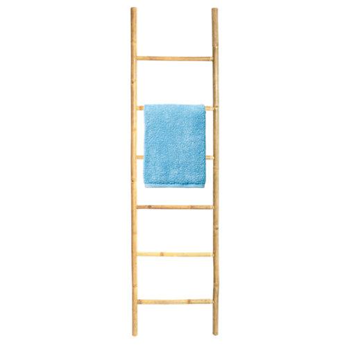 Toallero escalera baño marrón 50x190 cm