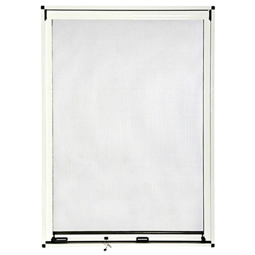 Mosquitera blanca enrollado vertcial de fibra de vidrio de 160x125cm