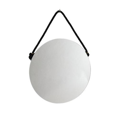 Espejo de baño vintage negro 60 x 60 cm