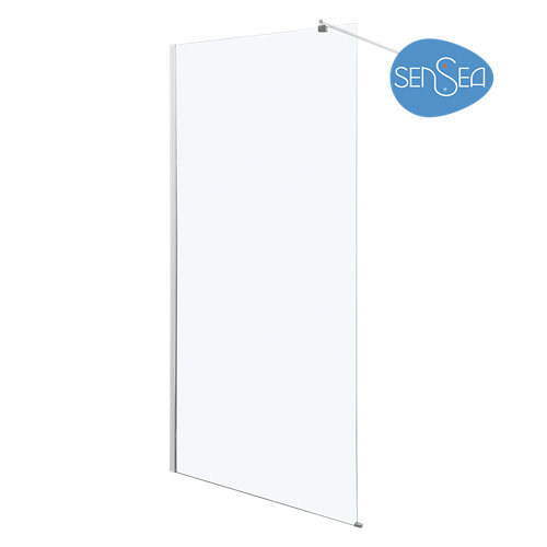 Panel de ducha nerea transparente cromado 80x190 cm