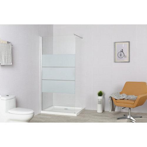 Panel de ducha serigrafiado cromado easy 90x195 cm