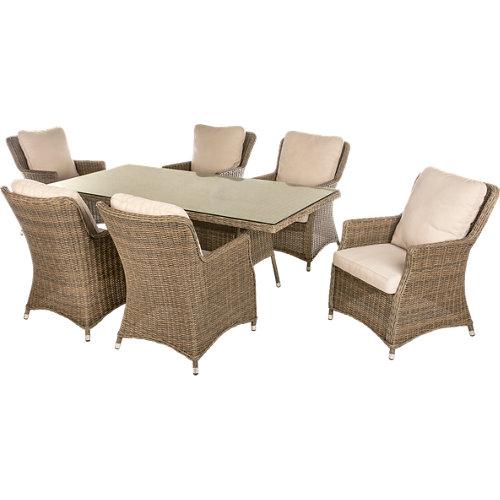 Conjunto de muebles de exterior manhattan de aluminio para 6 comensales