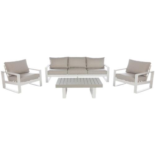 Conjunto de muebles de exterior las vegas de aluminio para 5 comensales