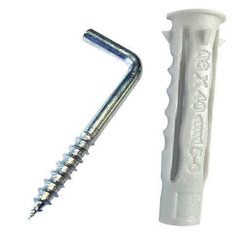 2 tacos para cualquier tipo de pared de acero de 60 mm y 12 mm de ø