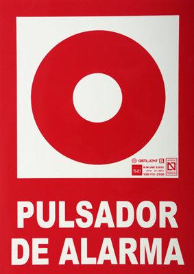 CARTEL SE/ÑAL PULSADOR DE ALARMA FOTOLUMINISCENTE