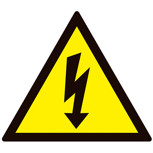 Cartel pvc riesgo eléctrico 15x15cm