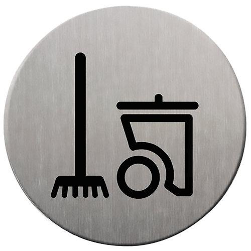 Plancha de señalización cuatro limpieza 9 cm