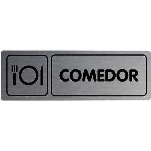 Placa aluminio comedor 18x5cm
