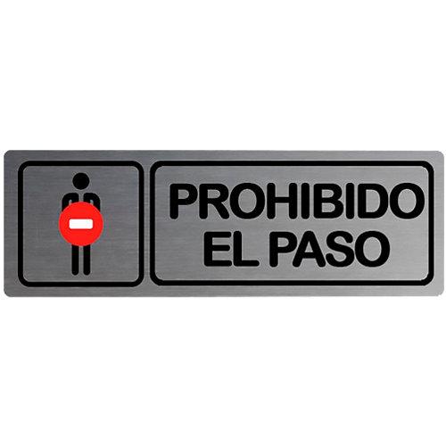 Plancha de señalización prohibido paso 180x5cm