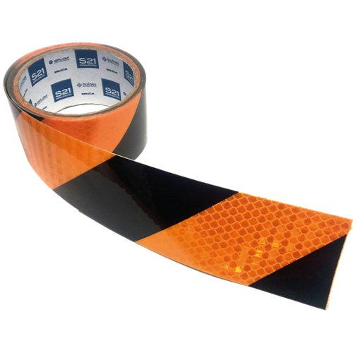 Pack 3 cinta refle amarilla/negra 40x5cm