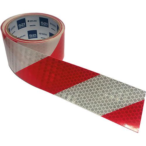 Pack 3 cinta reflecta blanco/rojo 40x5cm