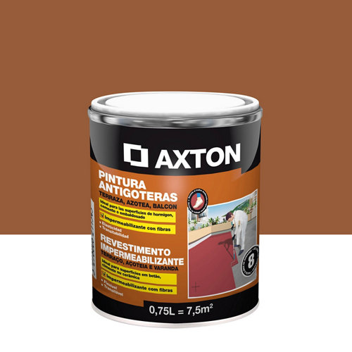 Pintura antigoteras axton terracota 0,75l