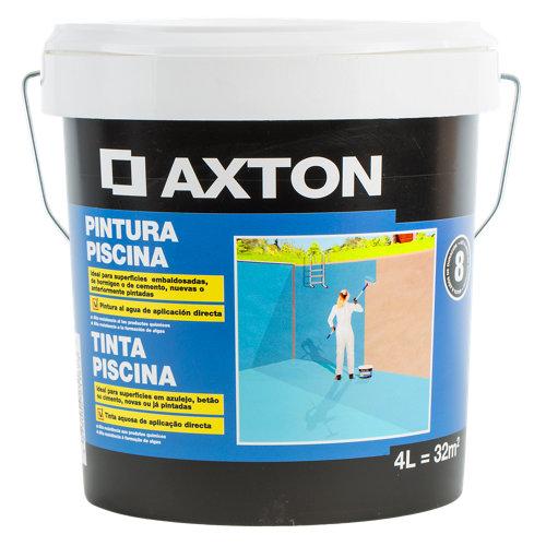 Pintura para piscinas al agua axton azul 4l