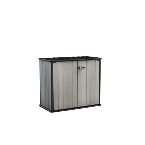 Armario de exterior de resina patio store 140x120x74 cm
