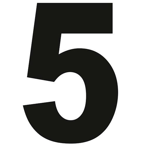 Número de señalización de puerta de pvc