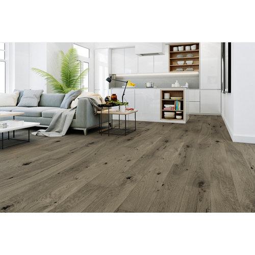 Suelo de madera galparket forte xl gris oscuro