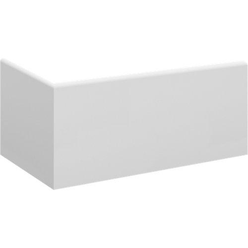 Zócalo antihumedad blanco melamina 8,5 cm