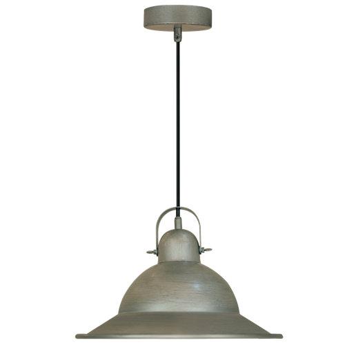 Lámpara de techo stephenson plateada inspire 1 luz