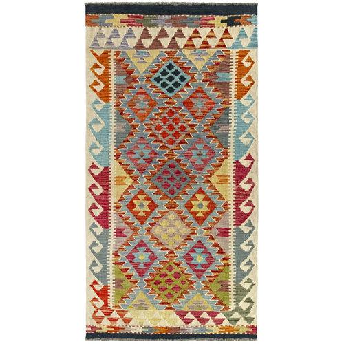 Alfombra de lana kilim herat 100 x 200cm