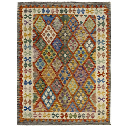 Alfombra interior lana multicolor kilim herat de 100x200 cm
