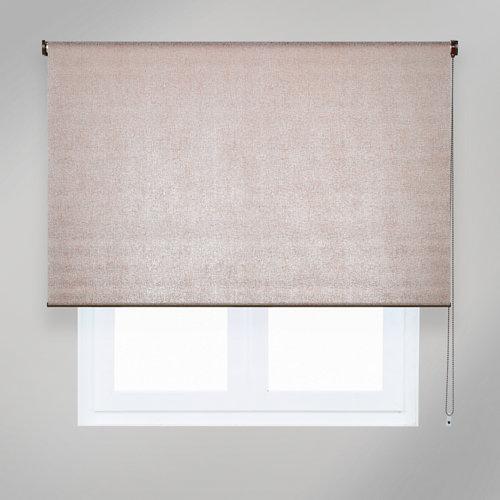 Estor enrollable translúcido viena cobre marrón de 124x235cm