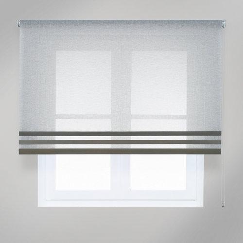 Estor enrollable translúcido opera gris de 124x250cm