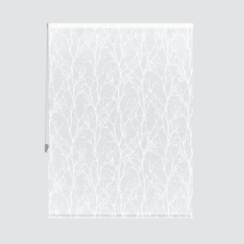 Estor enrollable ramas blanco de 124x235cm